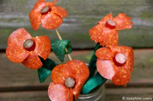 pepperoni meat petals